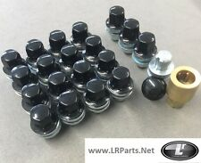 DISCOVERY 3 & 4 BLACK ALLOY WHEEL NUTS LOCKING NUTS - 16 & 4 LOCK NUTS LRC1110
