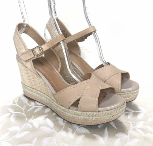Clarks Indigo Womens Heeled Sandals Size 10 Beige