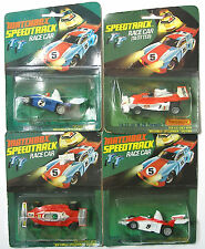 4pc Matchbox Speedtrack Slot Car INDY ELF F1 Marlboro M-26 FERRARI 312T2 +TEXACO