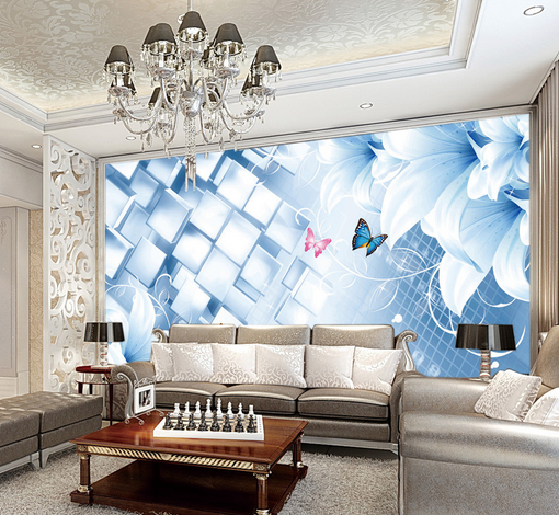 3D Butterfly Lattice Petal 3 Paper Wall Print Wall Decal Wall Deco Indoor Murals