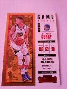 2017-18-Panini-Contenders-Red-Foil-Game-Ticket-Stephen-Curry-11-NM-MT