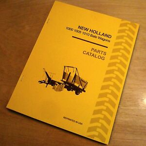 new holland 1000 1005 1010 automatic bale wagon parts catalog book rh ebay com New Holland 1003 Stackliner New Holland AG
