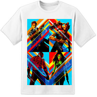 Marvel Guardians Of The Galaxy Pop Art T Shirt  (S-3XL) Iron Man Captain America