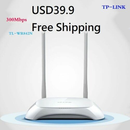 TP-LINK WR842N 300M 802.11N Wireless Router Strong Antenna Good WiFi Signal Free