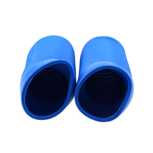2Pcs Motorcycle Front Fork Gaiters Boots Shock Protector Dust Cover Blue Rubber