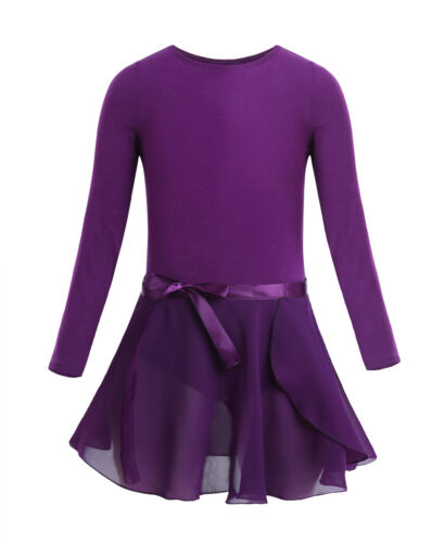 Girls Kid Ballet Leotard Dance Dress Tutu Skirt Ballerina Unitard Dancewear 3-14
