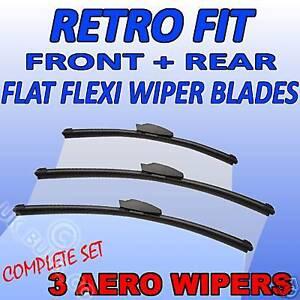 MERCEDES-ML-W163-FLAT-WIPER-BLADE-3-set-FRONT-amp-REAR