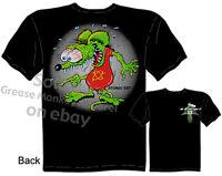 Atomic Rat Tee Ed Big Daddy Roth T Shirts Rat Fink Clothing Sz M L XL 2XL 3XL