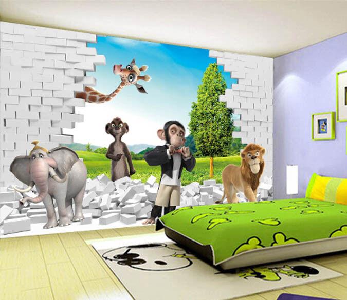 3D Animal bluee Sky 71 Wallpaper Mural Paper Wall Print Wallpaper Murals UK Lemon