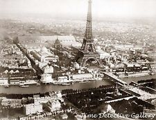 Aerial View of Paris, France - 1889 - Historic Photo Print