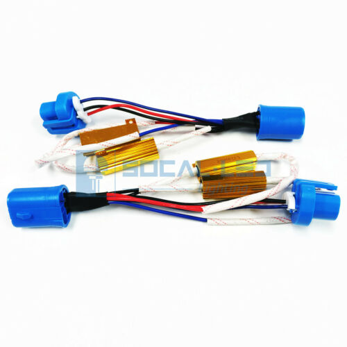 HID Relay Harness 9007 9004 Dual Resistor Kit Anti Flicker Adapter Error Decoder