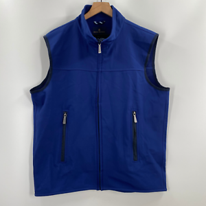 Brooks-Brothers-Mens-Blue-Full-Zip-Mock-Neck-Insulated-Vest-Size-XL