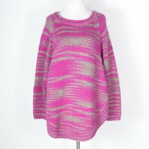 Calypso-St-Barth-Pink-Alpaca-Blend-Round-Hem-Tunic-Sweater-Small