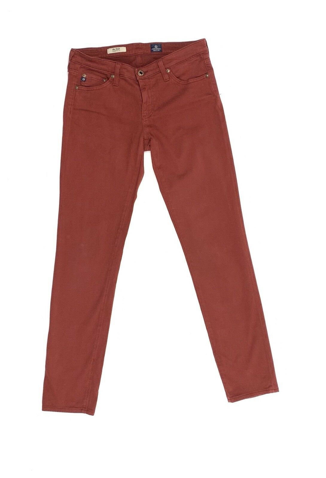 AG Adriano goldschmeid The Stilt Jeans 28R, Rich Rust Red, Made in USA