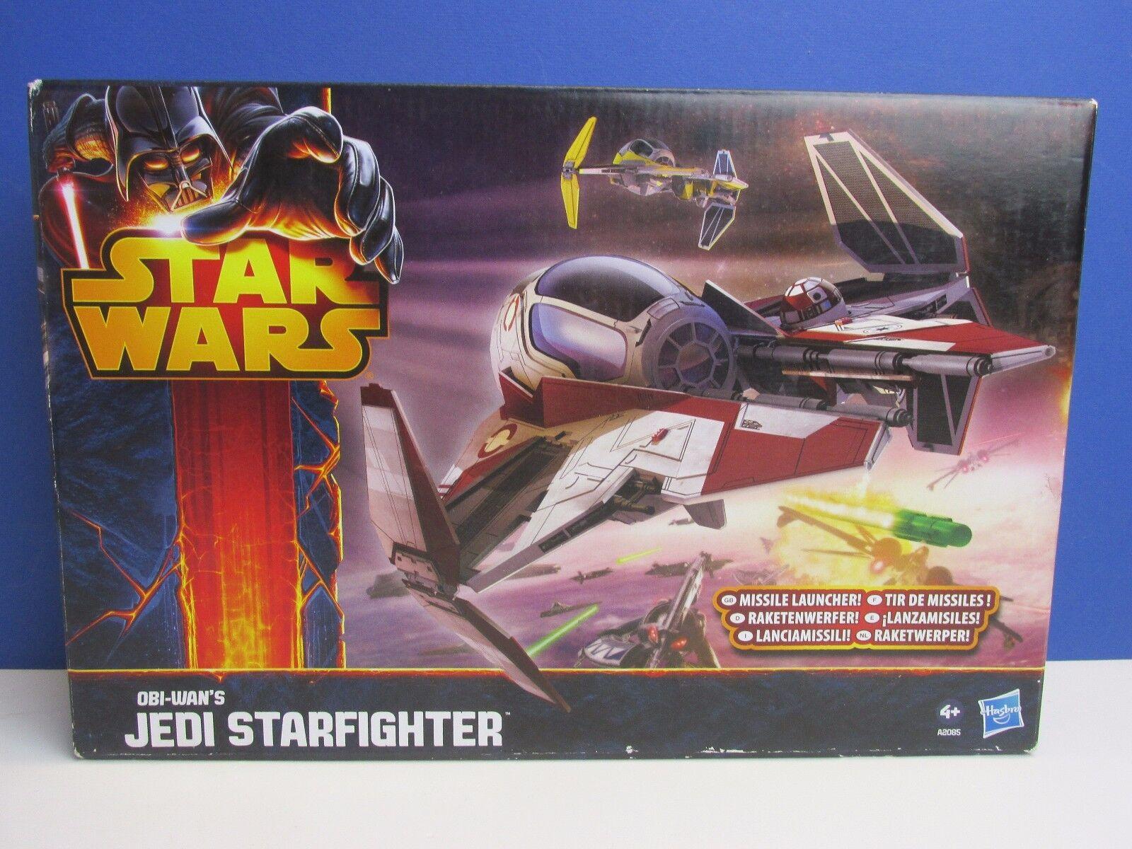 Star wars OBI WAN KENOBI JEDI STARFIGHTER SHIP revenge of sith redS HASBRO 61A