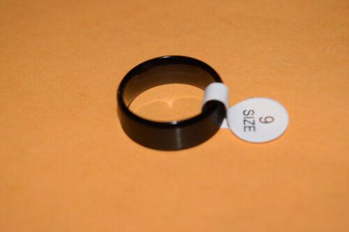 20mm x 8MM mens NEW Wedding BAND RING Size 9 Titanium Black