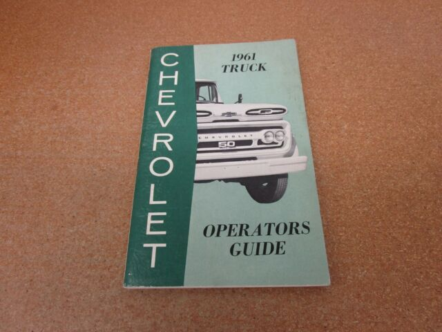 1961 Chevrolet Chevy Pickup Truck C  K K10 K20 C10 Owners