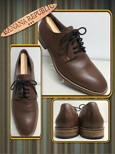 Banana Republic Brown Leather Oxford Size 10  Dress Business Shoes 680109