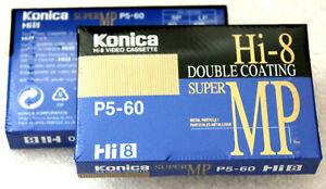 Cassettes Hi - 8 neuves neuf Lot de 2 SMP 60 Min ( Lp 120 Min !) pour camescope