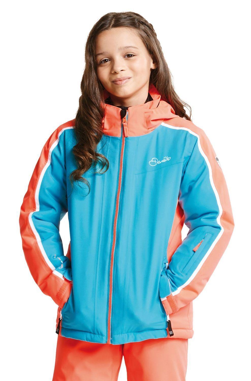 Dare2b Kinder Ski Jacke Skijacke BEGUILE JACKET aqua Blau   fiery coral