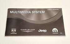 CHRYSLER DODGE JEEP MULTIMEDIA USER' S OWNERS MANUAL REN RADIOCD DVD HDD MYGIG