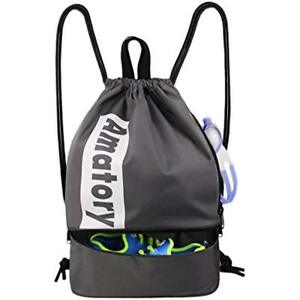 Image is loading Drawstring-Backpack-Sports-Gym-String-Bag-Cinch-Sack- 2040e595e239e