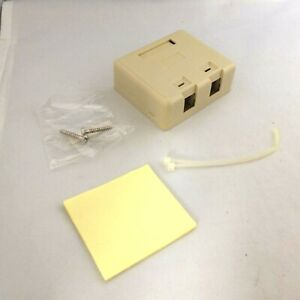 2 port Blank Modular Snap-in Keystone Wall Surface Mount Compact Box