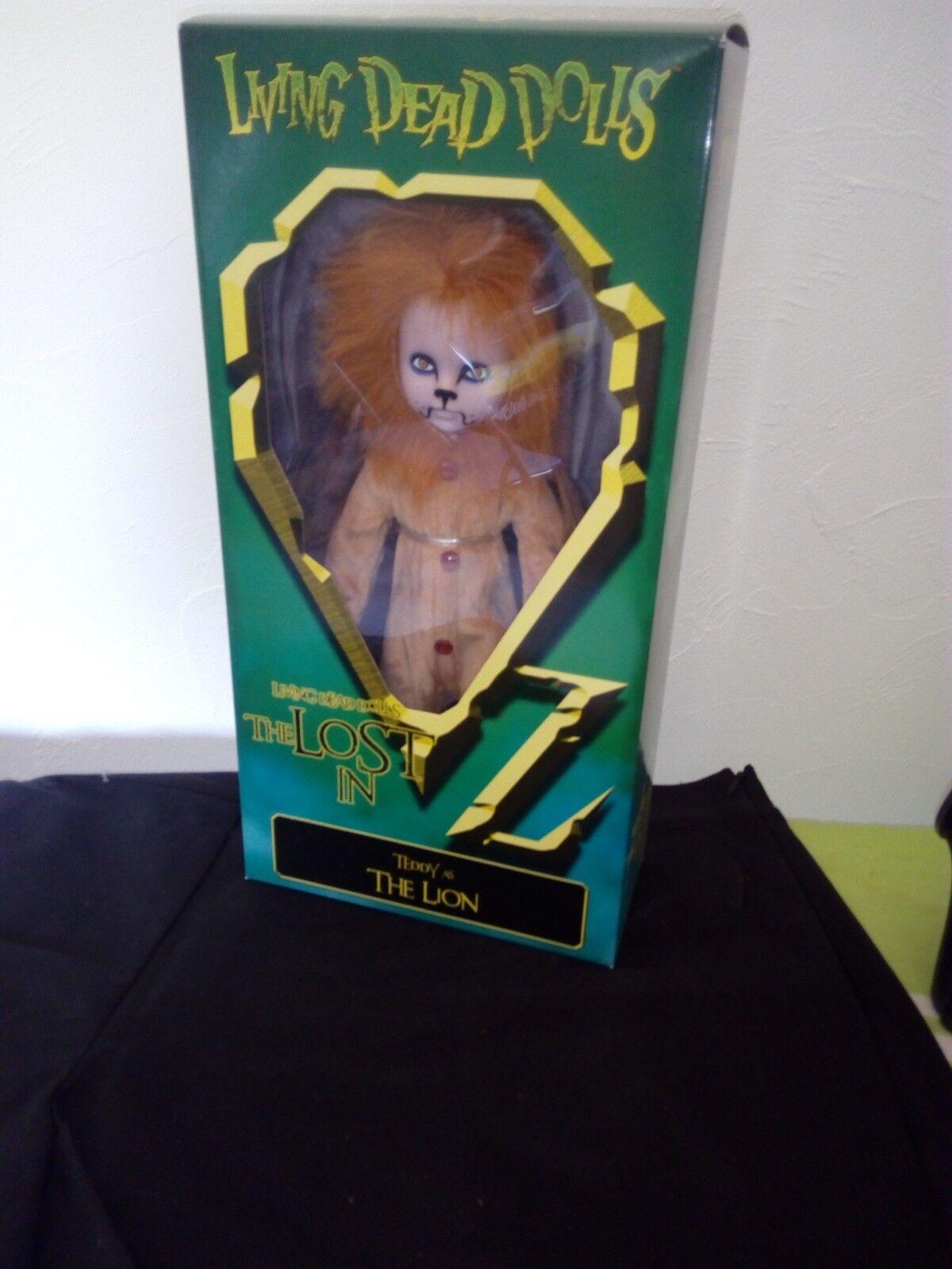 presa LIVING LIVING LIVING DEAD bambolaS LE MAGICIEN D'OZ LE LION  NEUF  consegna e reso gratuiti