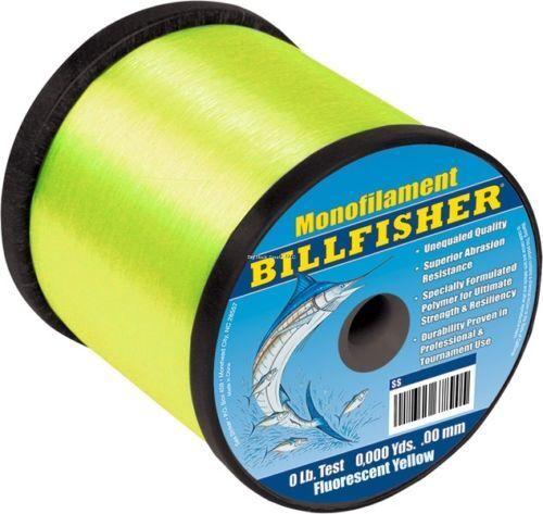 Billfisher a granel Carrete Mono 4Lb 60Lb 3440Yds SS4F-60 Amarillo Fluorescente