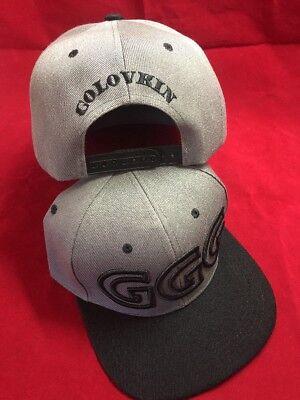 GGG Hat Canelo Alvarez GOLOVKIN BOXING HAT BOXER Signature SNAPBack Grayblack