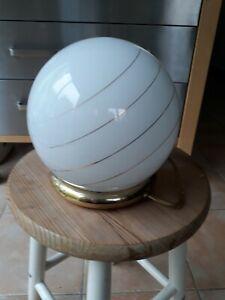 Lampe Vintage Abat Ou À De Chevet Sur Poser Détails En Boule Rétro Jour Table 5qRjc34AL