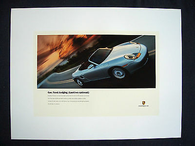 "PORSCHE OFFICIAL BOXSTER OFFICIAL  "" GAS FOOD LODGING "" SHOWROOM POSTER 1997 USA"