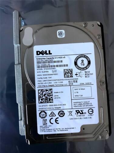 """DELL SFF 2.5/"""" 2TB Enterprise 12Gb//s SAS drive ST2000NX0433  DOM:10//2016 FVX7C"""