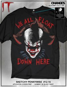 It Pennywise Dibujos Payaso We All Flotar Down Here Adulto Hombres