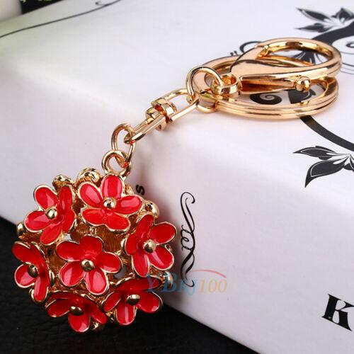 3D Rhinestone Crystal Keyring Charm Pendant Purse Bag Key Chain Keychain Gift