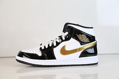 online store 4af8f 50e73 Nike Air Jordan Retro 1 Mid SE White Black Metallic Gold 852542-007 8-11.5    eBay