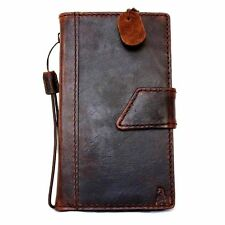 Samsung Galaxy Note 4 Book Wallet Case Italian Leather Handmade Pockets ID Cards