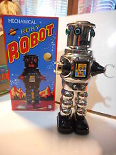 tole tin toy roby robot mecanique  mechanical