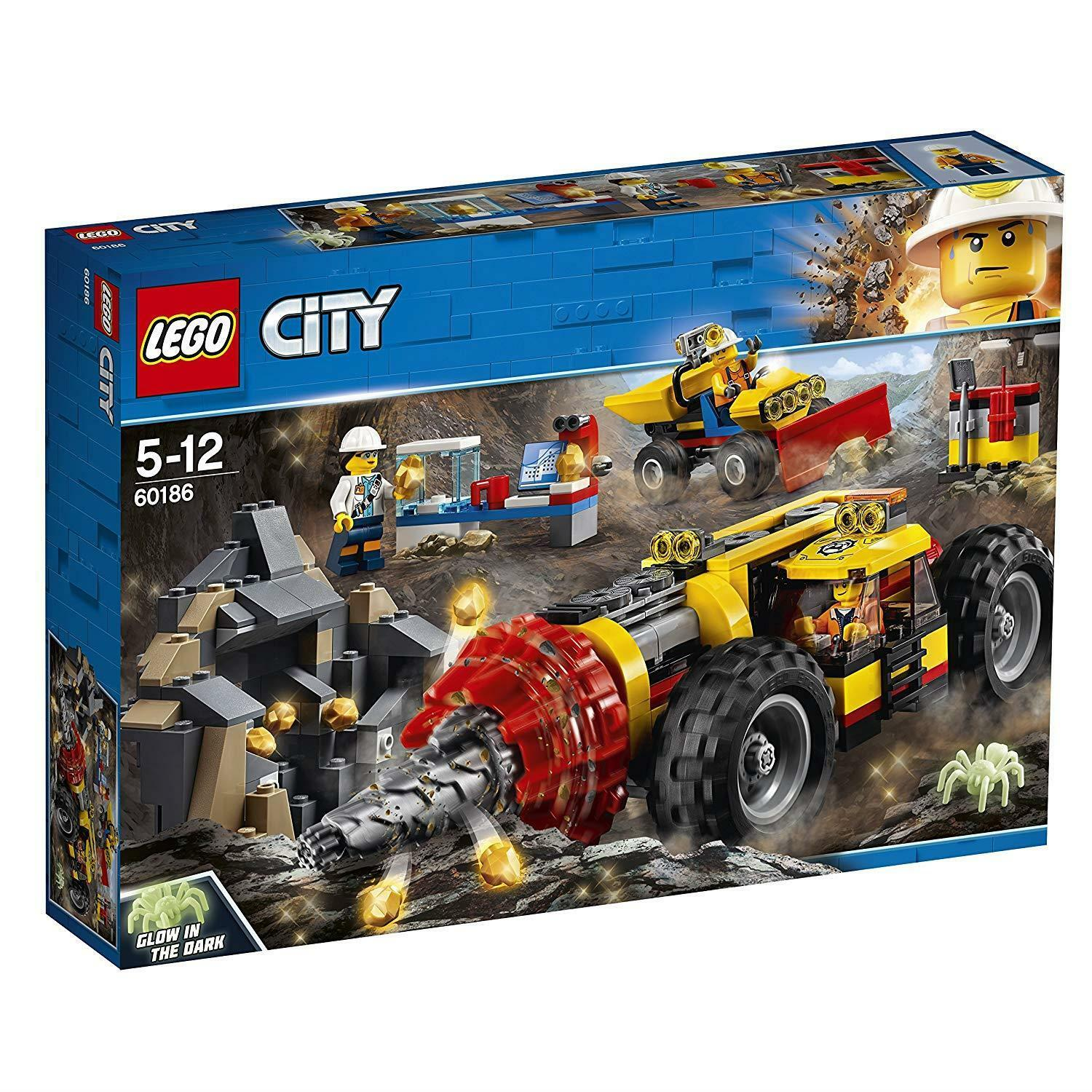 LEGO 60186 City Mining Power Driller Driller Driller Toy Vehicle Construction Sets For Kids 0d5ff6