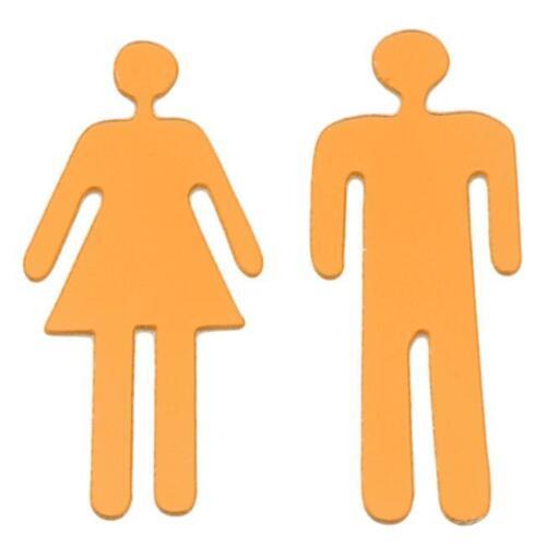 New Home Decor 3D Toilet Bathroom Door Men Women Sign Mirror Wall Sticker S