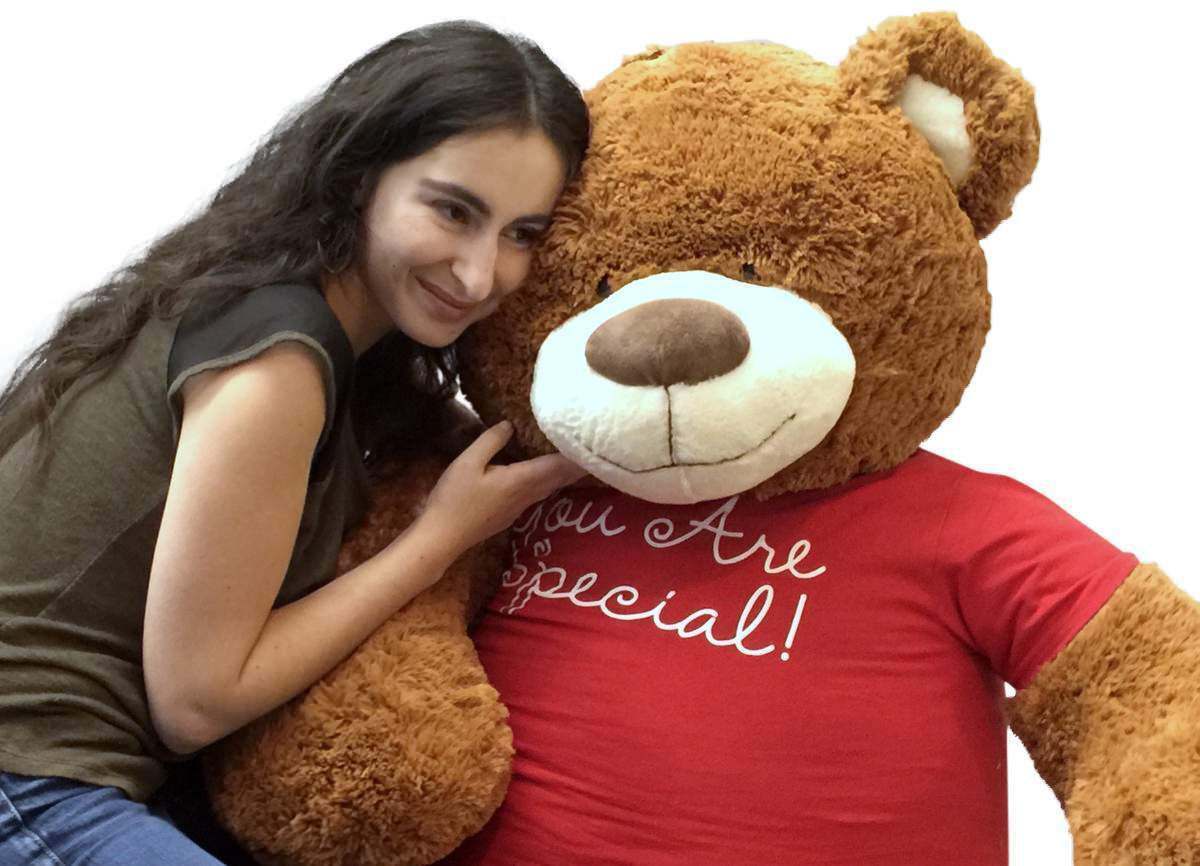5 Foot Giant Teddy Bear 60 Inches Soft Cinnamon Brown color YOU ARE SPECIAL