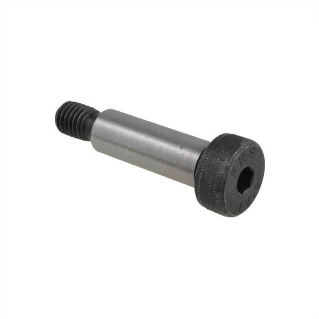 Qty 1 Socket SHOULDER Screw 12mm x 30mm (M10 Thread) Black Plain Stripper Bolt