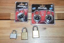 New Listingnew Master Lock 1500d 1500t Locker Combination Padlock 3 Locks With No Keys