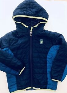 Details About Rugged Bear Kids Boys Reversible Hooded Winter Jacket Size 5 Blue
