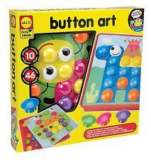 ALEX Toys 1408 Little Hands Button Art, Preschool Arts & Crafts Kits For Kids