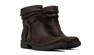 NEW BORN B.O.C MAX BROWN ANKLE BOOTIES BOOTS WOMENS 6.5  Z45823