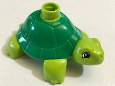 *NEW* Lego Duplo Animal GREEN LIME TURTLE with GREEN Back