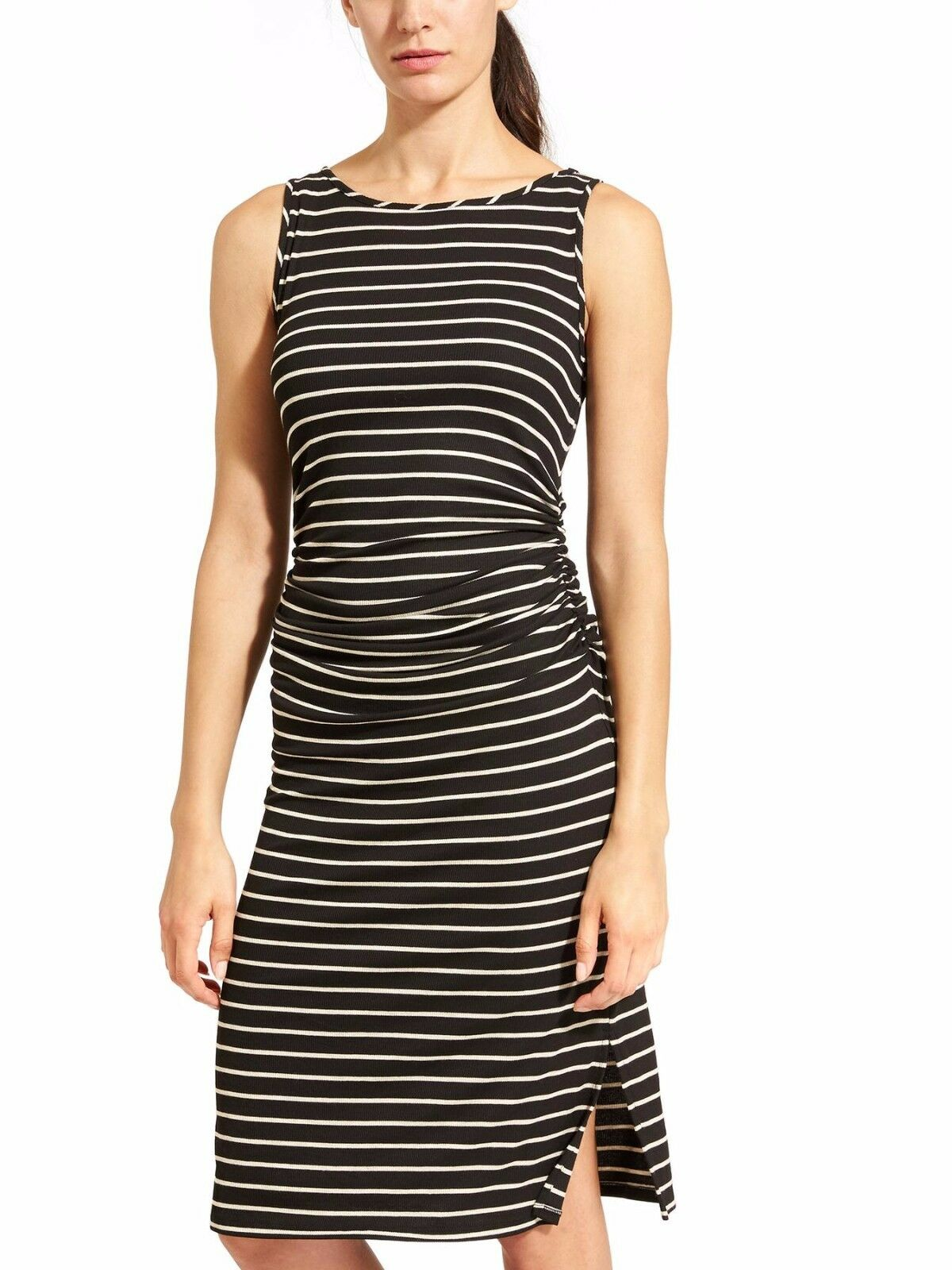 NWT Athleta Sunkissed Stripe Dress, schwarz Stripe Größe L    v66
