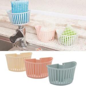 Kitchen-Sink-Faucet-Sponge-Soap-Drain-Rack-Storage-Holder-Shelf-Basket