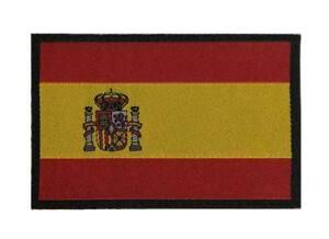 Parche-bandera-Espana-bajo-perfil-clasica-militar-hilo-alta-calidad